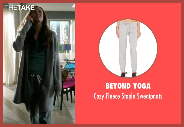 Beyond Yoga gray sweatpants from Guilt seen with Grace Atwood (Daisy Head)