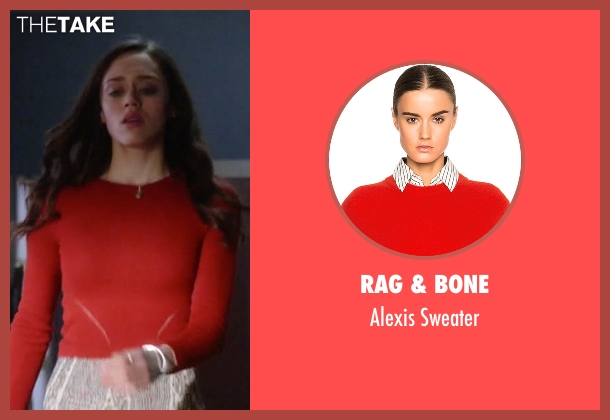 Grace Atwood's Red Rag & Bone Alexis Sweater from Guilt - Season 1 ...