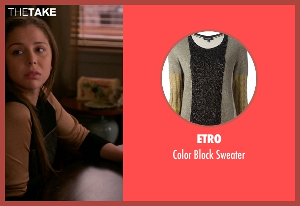 Etro beige sweater from The Good Wife seen with Grace Florrick (Makenzie Vega)