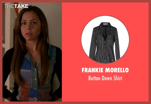 Frankie Morello black shirt from The Good Wife seen with Grace Florrick (Makenzie Vega)