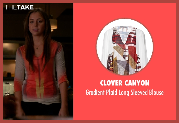 Clover Canyon white blouse from The Good Wife seen with Grace Florrick (Makenzie Vega)