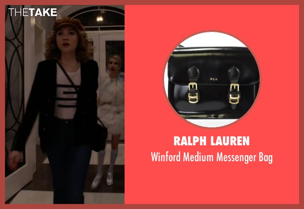Ralph Lauren black bag from Scream Queens seen with Grace Gardner (Skyler Samuels)