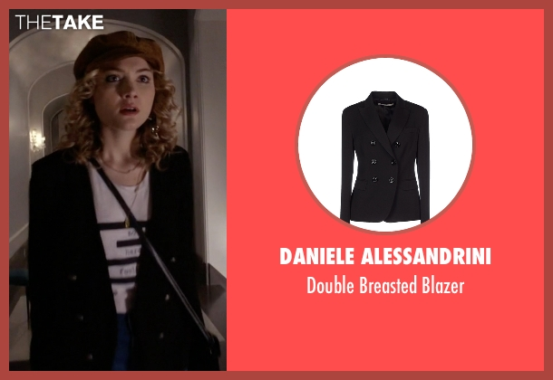 Daniele Alessandrini black blazer from Scream Queens seen with Grace Gardner (Skyler Samuels)