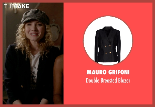 Mauro Grifoni black blazer from Scream Queens seen with Grace Gardner (Skyler Samuels)