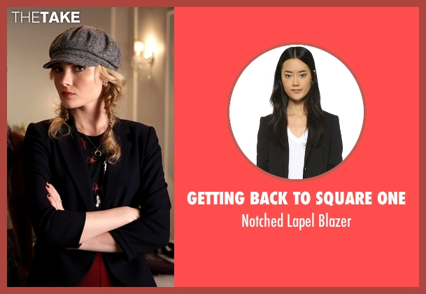 Getting Back To Square One black blazer from Scream Queens seen with Grace Gardner (Skyler Samuels)