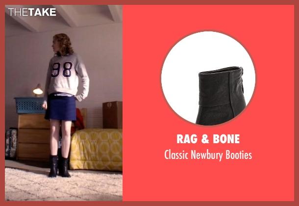 Rag & Bone black booties from Scream Queens seen with Grace Gardner (Skyler Samuels)