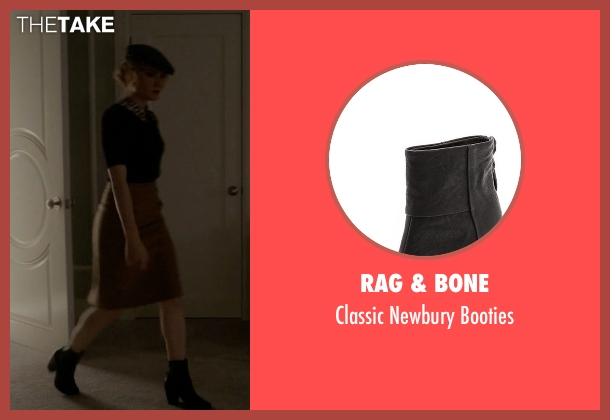 Rag & Bone black booties from Scream Queens seen with Grace Gardner (Skyler Samuels)