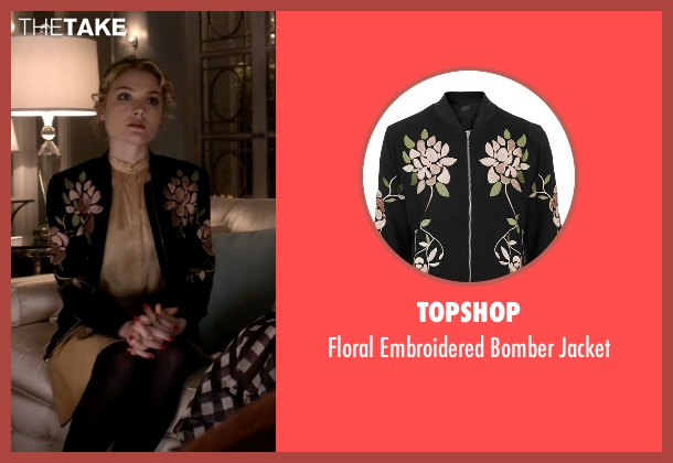 Topshop black jacket from Scream Queens seen with Grace Gardner (Skyler Samuels)