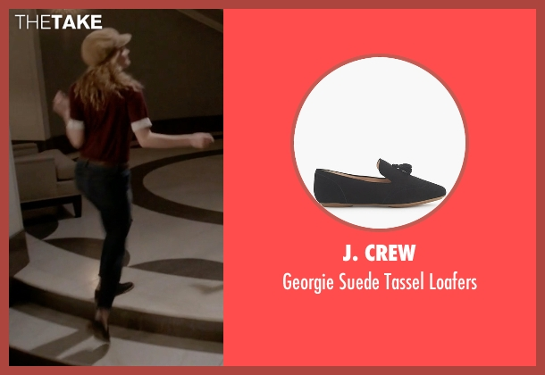 J. Crew black loafers from Scream Queens seen with Grace Gardner (Skyler Samuels)