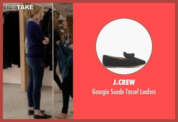 J.Crew black loafers from Scream Queens seen with Grace Gardner (Skyler Samuels)