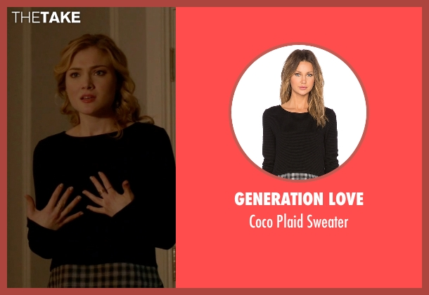 Generation Love black sweater from Scream Queens seen with Grace Gardner (Skyler Samuels)
