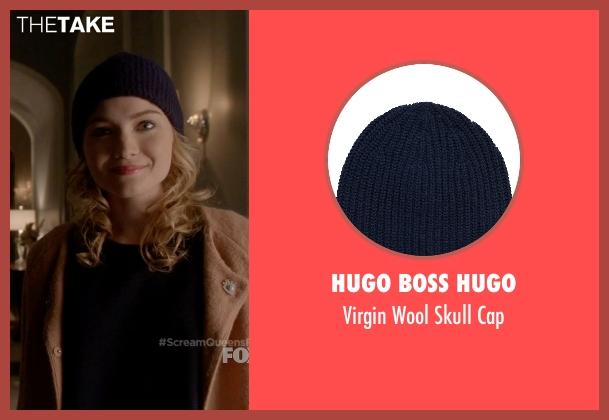 Hugo Boss Hugo blue cap from Scream Queens seen with Grace Gardner (Skyler Samuels)