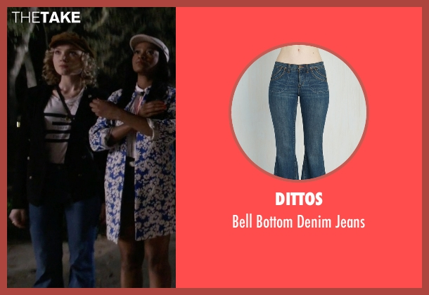 Dittos blue jeans from Scream Queens seen with Grace Gardner (Skyler Samuels)