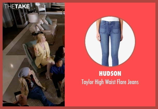 Hudson blue jeans from Scream Queens seen with Grace Gardner (Skyler Samuels)