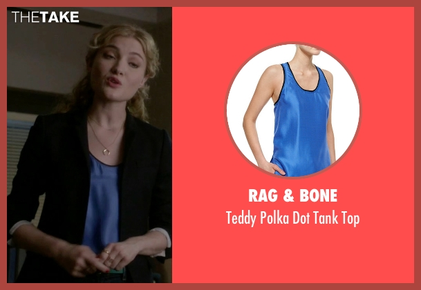 Rag & Bone blue top from Scream Queens seen with Grace Gardner (Skyler Samuels)
