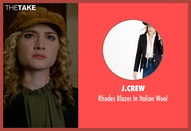 J.Crew blue wool from Scream Queens seen with Grace Gardner (Skyler Samuels)