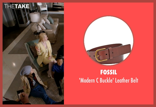 Fossil brown belt from Scream Queens seen with Grace Gardner (Skyler Samuels)
