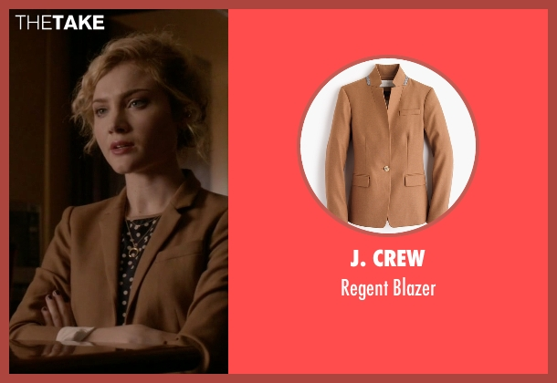 J. Crew brown blazer from Scream Queens seen with Grace Gardner (Skyler Samuels)