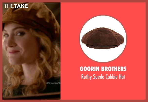 Goorin Brothers brown hat from Scream Queens seen with Grace Gardner (Skyler Samuels)