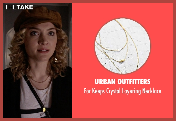 Urban Outfitters gold layering necklace from Scream Queens seen with Grace Gardner (Skyler Samuels)