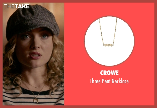 Crowe gold necklace from Scream Queens seen with Grace Gardner (Skyler Samuels)