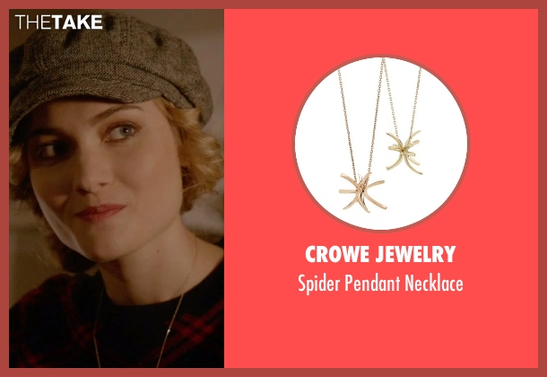 Crowe Jewelry gold necklace from Scream Queens seen with Grace Gardner (Skyler Samuels)