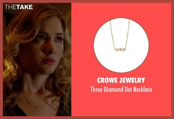 Crowe Jewelry gold necklace from Scream Queens seen with Grace Gardner (Skyler Samuels)