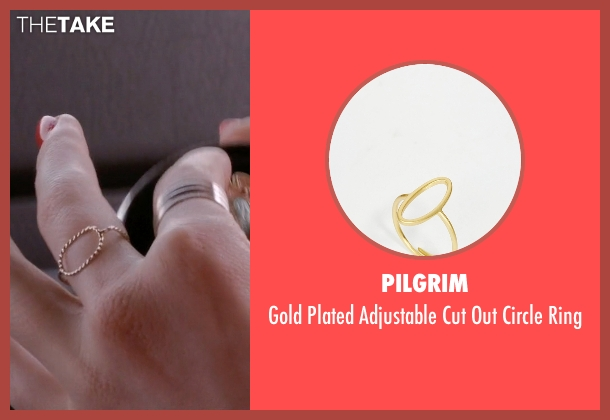 Pilgrim gold ring from Scream Queens seen with Grace Gardner (Skyler Samuels)