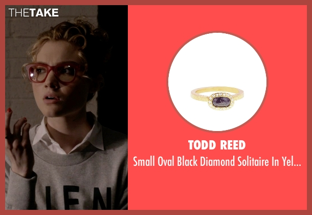 Todd Reed gold ring from Scream Queens seen with Grace Gardner (Skyler Samuels)