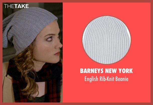 Barneys New York gray beanie from Scream Queens seen with Grace Gardner (Skyler Samuels)