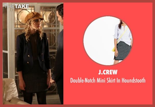 J.Crew gray houndstooth from Scream Queens seen with Grace Gardner (Skyler Samuels)