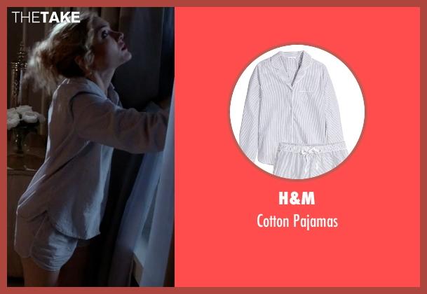 H&M gray pajamas from Scream Queens seen with Grace Gardner (Skyler Samuels)