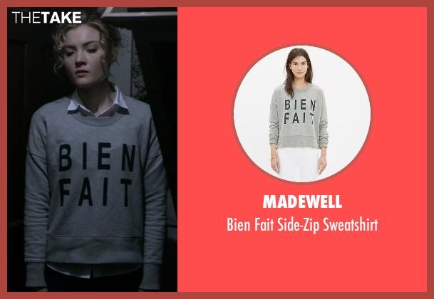 Madewell gray sweatshirt from Scream Queens seen with Grace Gardner (Skyler Samuels)