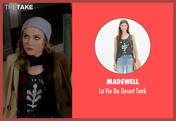 Madewell gray tank from Scream Queens seen with Grace Gardner (Skyler Samuels)