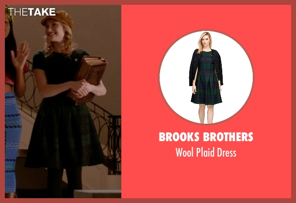Brooks Brothers green dress from Scream Queens seen with Grace Gardner (Skyler Samuels)