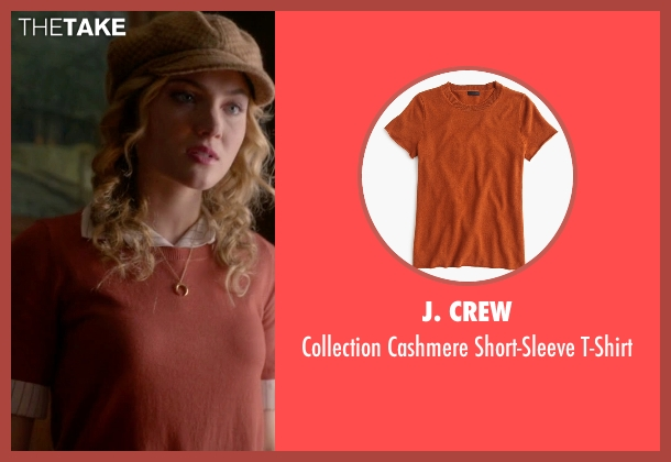J. Crew orange t-shirt from Scream Queens seen with Grace Gardner (Skyler Samuels)