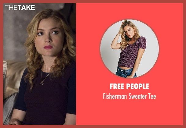 Free People purple tee from Scream Queens seen with Grace Gardner (Skyler Samuels)
