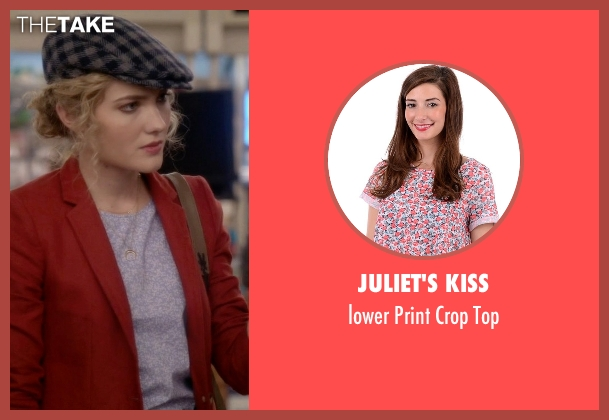 Juliet's Kiss purple top from Scream Queens seen with Grace Gardner (Skyler Samuels)