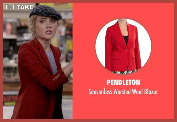 Pendleton red blazer from Scream Queens seen with Grace Gardner (Skyler Samuels)