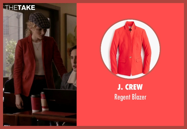 J. Crew red blazer from Scream Queens seen with Grace Gardner (Skyler Samuels)