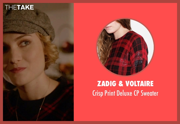 Zadig & Voltaire red sweater from Scream Queens seen with Grace Gardner (Skyler Samuels)