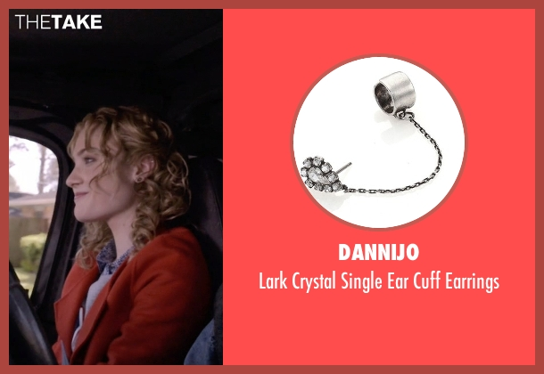 Dannijo silver earrings from Scream Queens seen with Grace Gardner (Skyler Samuels)