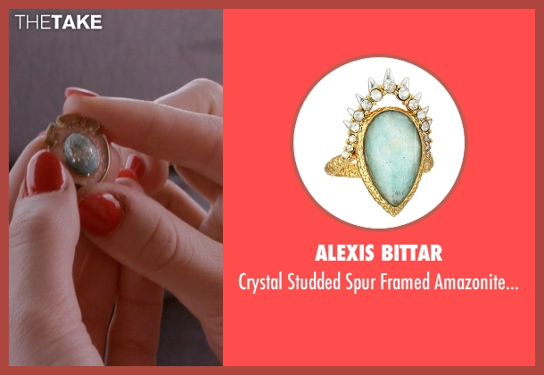 Alexis Bittar silver ring from Scream Queens seen with Grace Gardner (Skyler Samuels)