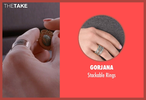 Gorjana silver rings from Scream Queens seen with Grace Gardner (Skyler Samuels)