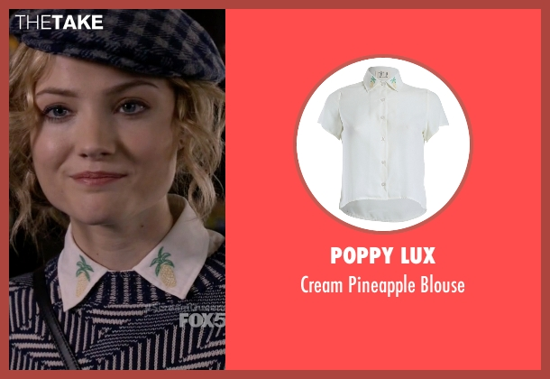 Poppy Lux white blouse from Scream Queens seen with Grace Gardner (Skyler Samuels)