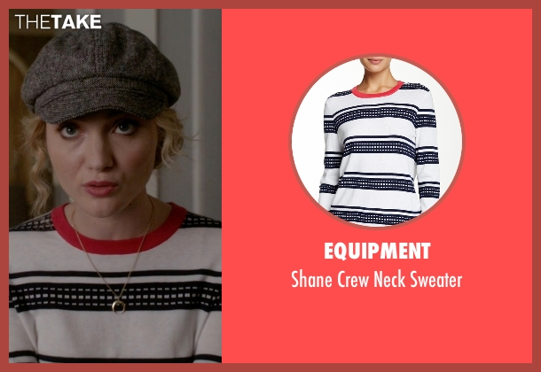 Equipment white sweater from Scream Queens seen with Grace Gardner (Skyler Samuels)