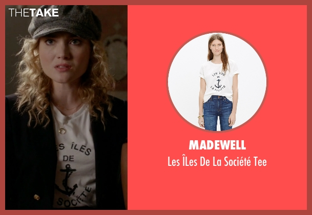Madewell white tee from Scream Queens seen with Grace Gardner (Skyler Samuels)