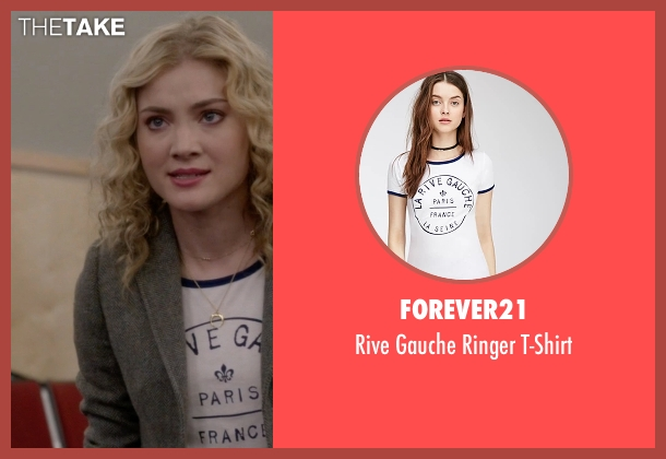Forever21 white t-shirt from Scream Queens seen with Grace Gardner (Skyler Samuels)