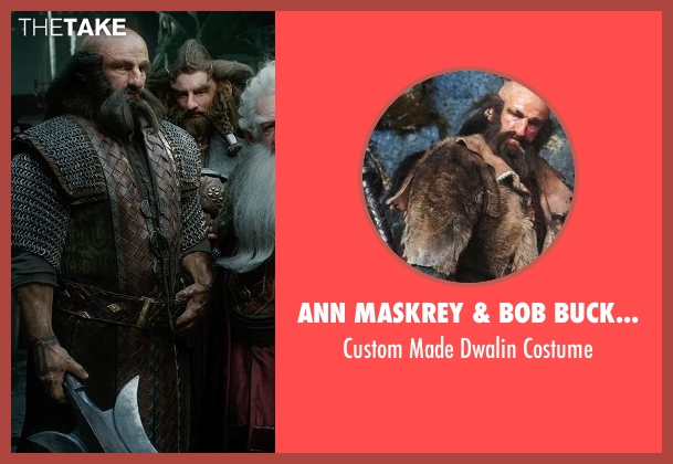 Ann Maskrey & Bob Buck (Costume Designer) costume from The Hobbit: The Battle of The Five Armies seen with Graham McTavish (Dwalin)