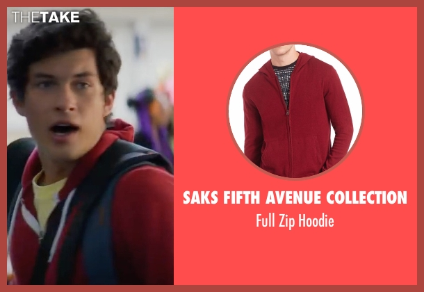 Saks Fifth Avenue Collection red hoodie from XOXO seen with Graham Phillips (Ethan)